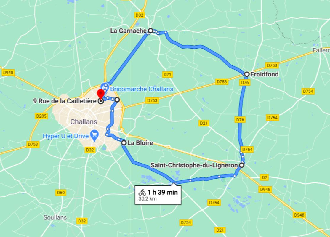Parcours N20-29,4km-Bocage