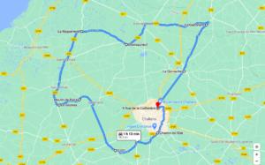 Parcours N615-58km-Marais