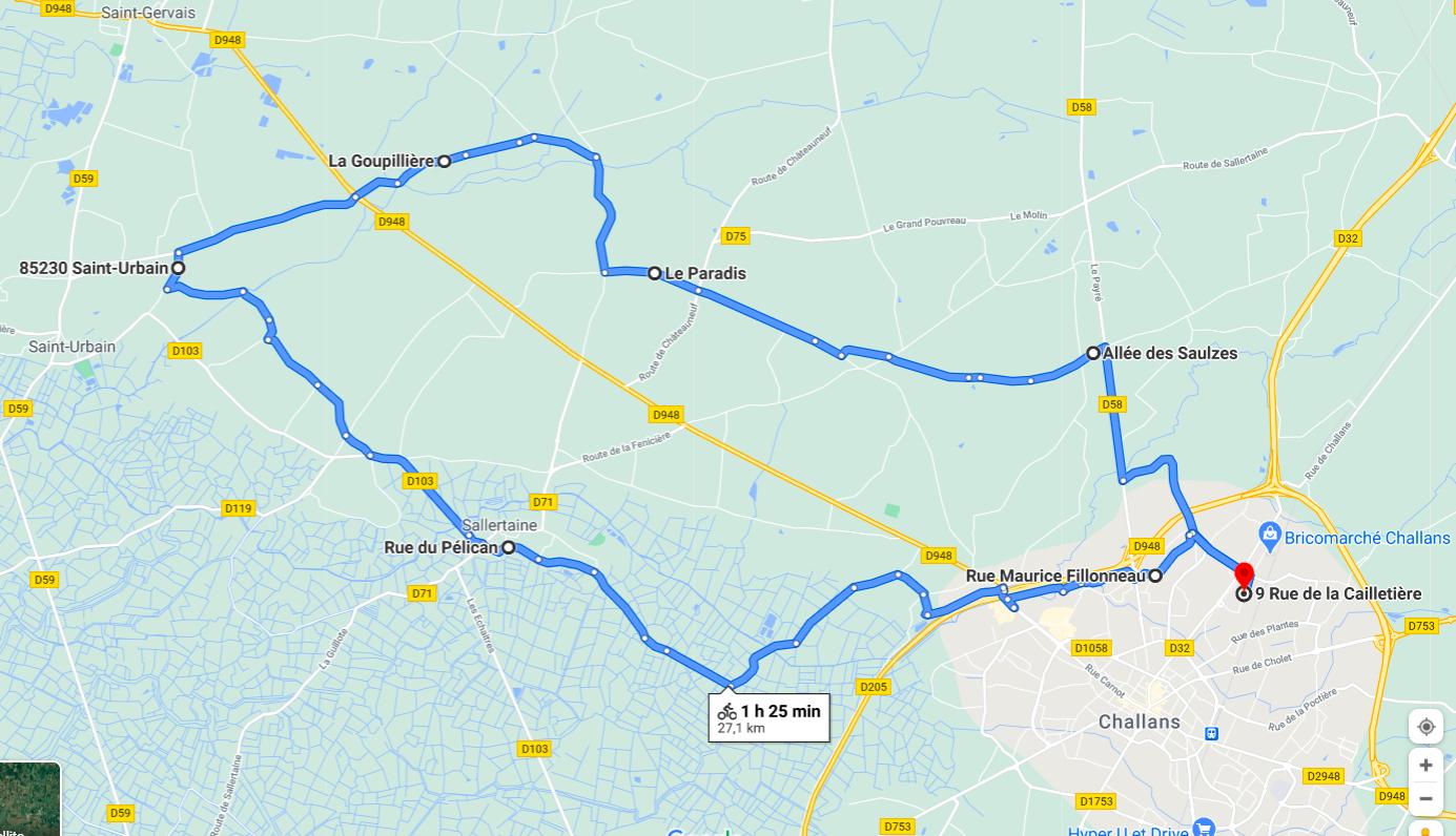 Parcours N22-27km-Marais