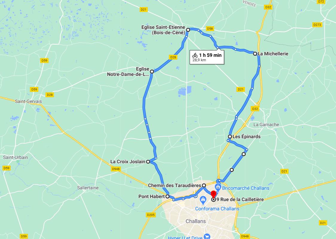 Parcours N24-29km-Bocage