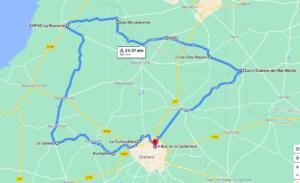 Parcours N701J-68km-Marais Bocage
