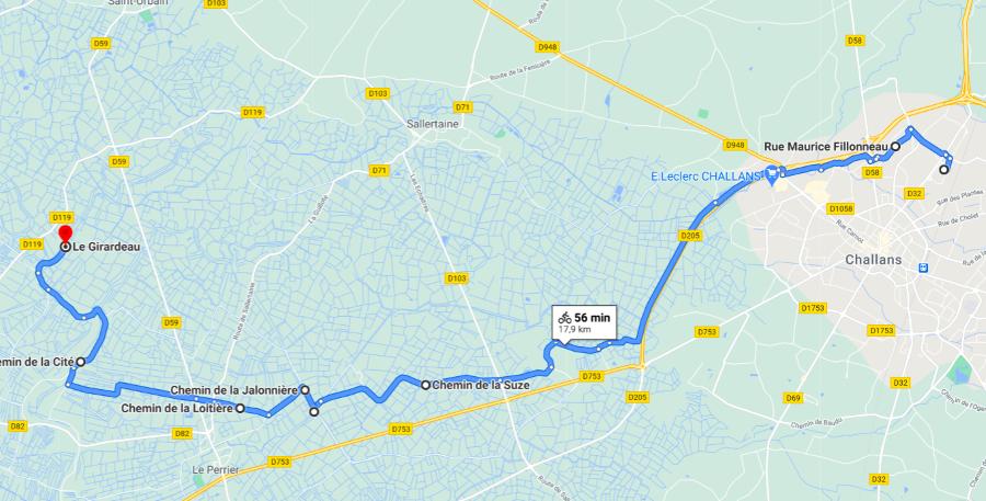 Parcours N13-33km-Marais