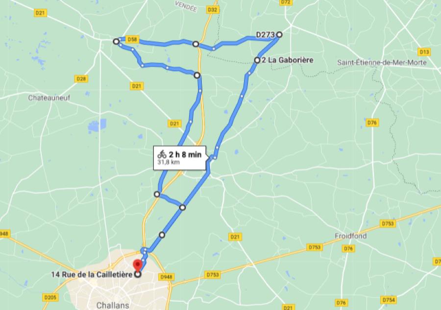 Parcours N26-31km-Bocage