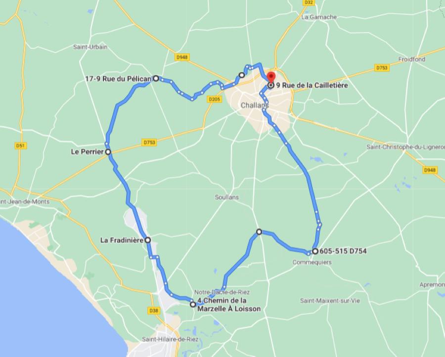 Parcours N50-02-49km-Bocage Marais