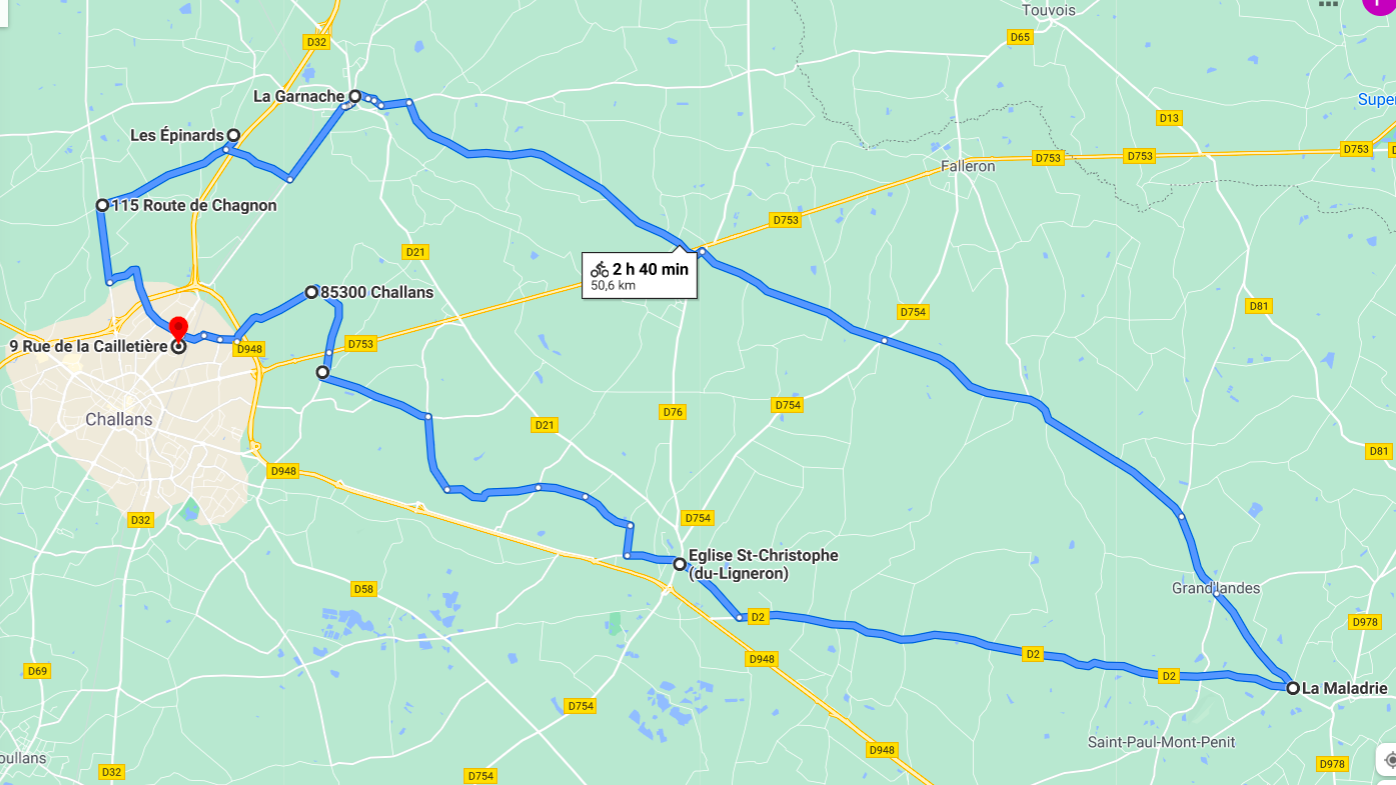 Parcours N50-05-50km-Bocage