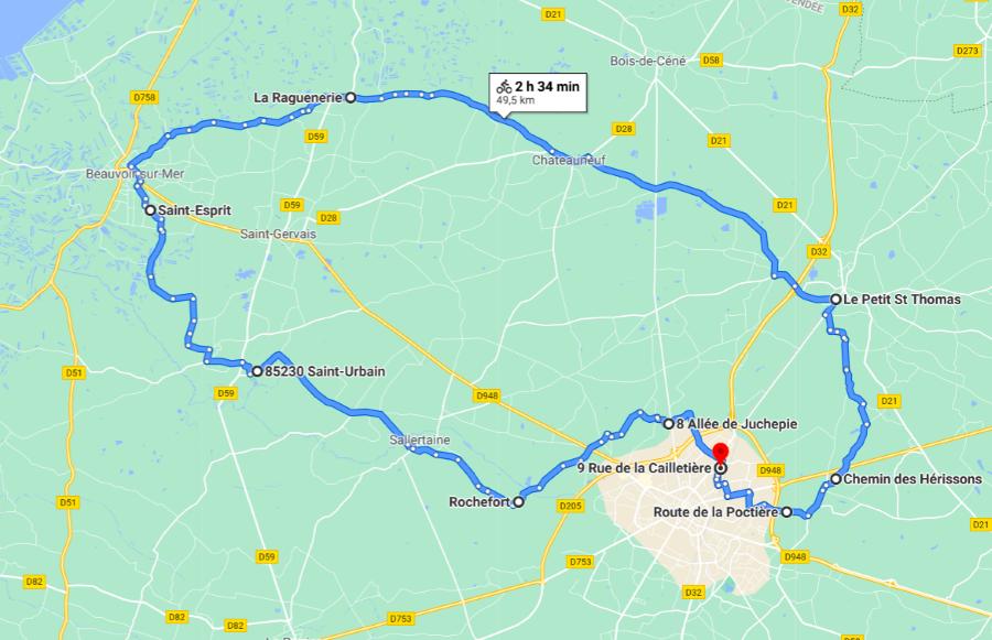 Parcours N50-07-50km-Bocage