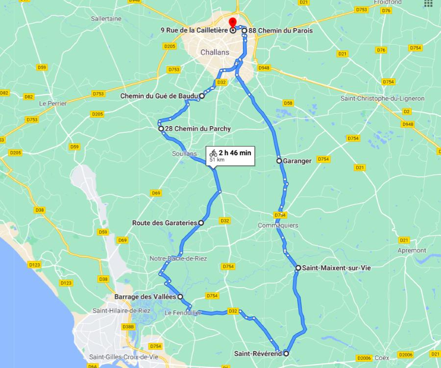 Parcours N50-08-50km-Marais