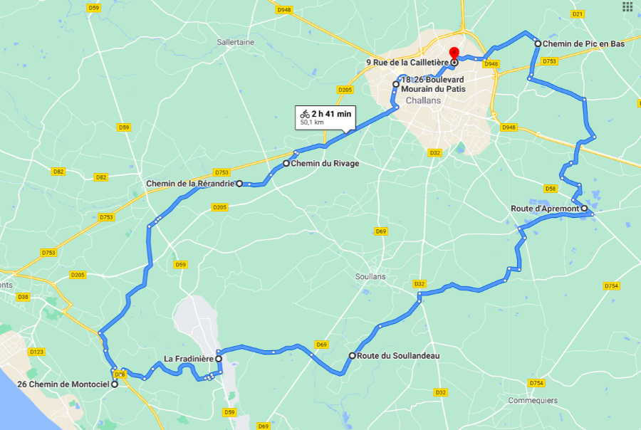 Parcours N50-11-50km-Marais