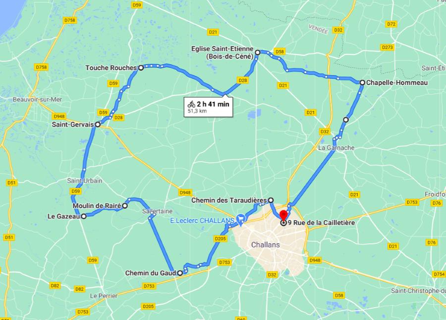 Parcours N50-12-51km-Marais
