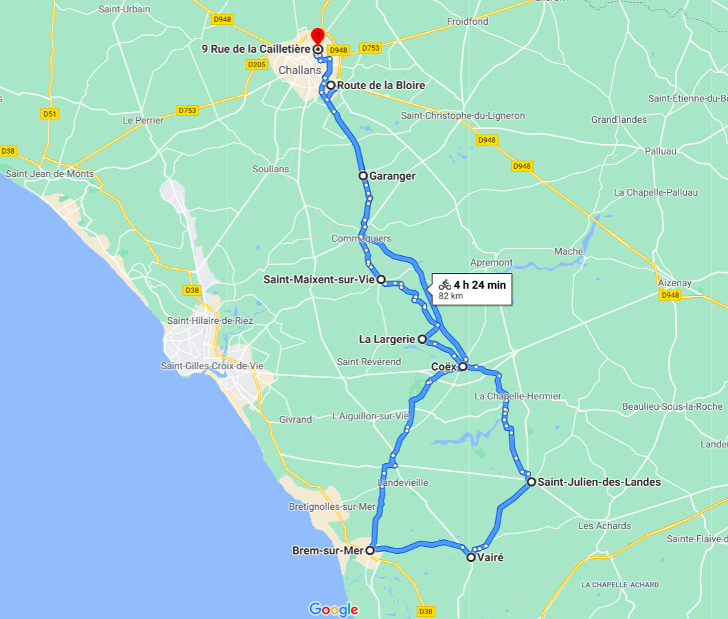 Parcours N816JC-81km-Bocage