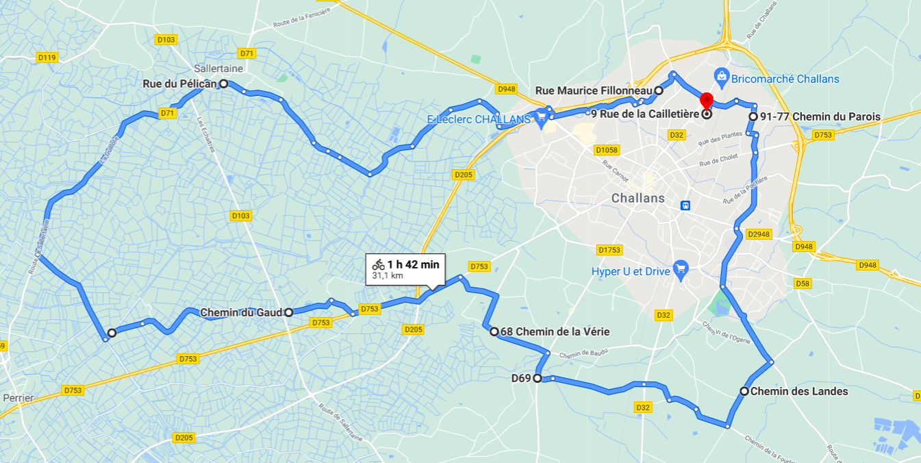 Parcours N12-31km-Bocage