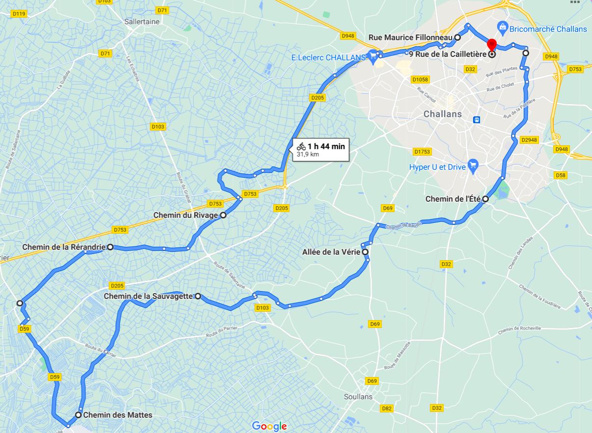 Parcours N38-32km-Bocage