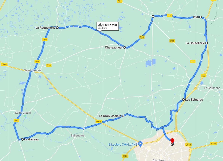Parcours N40-03-47km-Marais